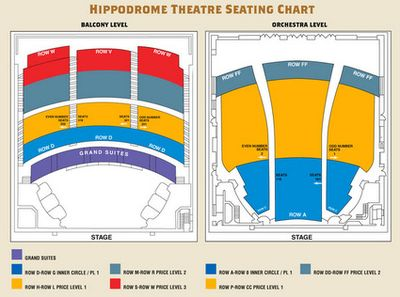 Hippodrome Seating Chart