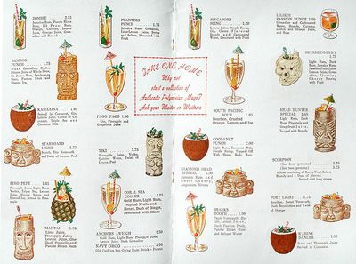 Hawaiian room menu