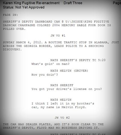 Americas most wanted script